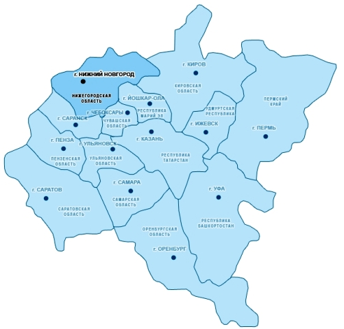 карта пфо с городами и областями
