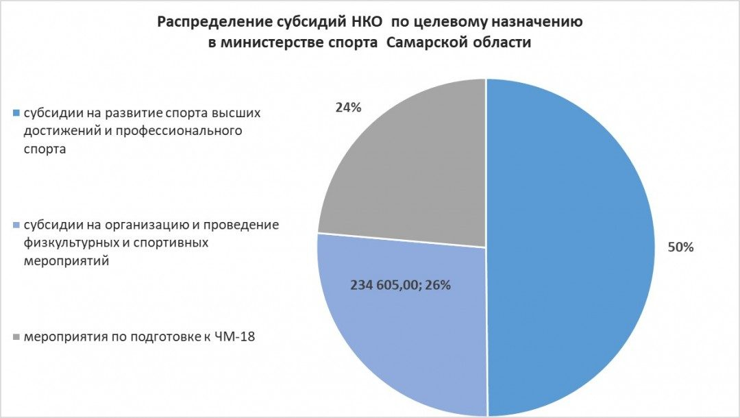 Распределение субсидий НКО по целевому назначению в министерстве спорта Самарской области