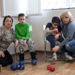 Первое занятие секции по игре бочча для детей с ДЦП в г.Тольятти, 15.02.18